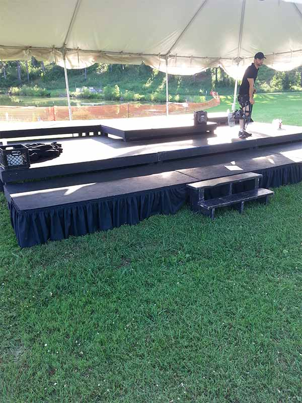 Stage Rentals in Central TN   Action Tents